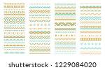 geometric patterns  borders ... | Shutterstock .eps vector #1229084020