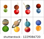 planets of the solar system.... | Shutterstock .eps vector #1229086720