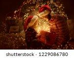 family open christmas lighting... | Shutterstock . vector #1229086780