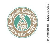 merry christmas   happy new... | Shutterstock .eps vector #1229087389