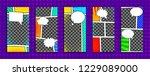 editable stories templates for... | Shutterstock .eps vector #1229089000