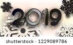 merry christmas  greeting... | Shutterstock .eps vector #1229089786