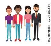 young people cartoon   Shutterstock .eps vector #1229101669