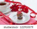 Closeup Of Chocolate Cupcake On ...
