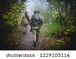 soldiers with a rocket launcher ... | Shutterstock . vector #1229105116