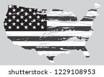 usa map with flag.american flag ... | Shutterstock .eps vector #1229108953