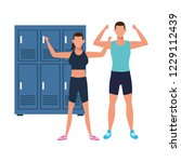 fitness people training | Shutterstock .eps vector #1229112439