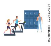 fitness people training | Shutterstock .eps vector #1229114179