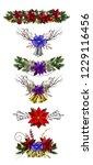 christmas decoration set   Shutterstock .eps vector #1229116456