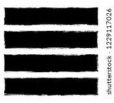 vector collection of black... | Shutterstock .eps vector #1229117026