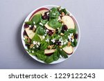 autumn spinach salad with apple ...   Shutterstock . vector #1229122243