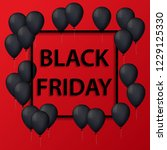 vector illustration of black... | Shutterstock .eps vector #1229125330