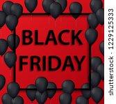 vector illustration of black... | Shutterstock .eps vector #1229125333