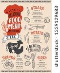steak menu template for...   Shutterstock .eps vector #1229129683