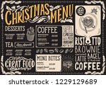 christmas menu template for... | Shutterstock .eps vector #1229129689