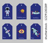 set of astronomy hand drawn... | Shutterstock .eps vector #1229130289