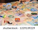 a lot of tourist souvenirs of... | Shutterstock . vector #1229139229