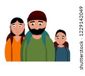 sad homeless family icon.... | Shutterstock . vector #1229142049