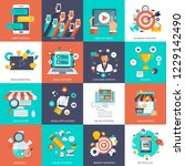 set of flat design icons for... | Shutterstock .eps vector #1229142490