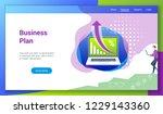 flat design concept on business ...   Shutterstock .eps vector #1229143360