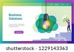 flat design concept on business ...   Shutterstock .eps vector #1229143363