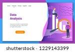 flat design concept on data...   Shutterstock .eps vector #1229143399