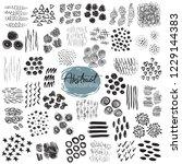 set of hand drawn design... | Shutterstock .eps vector #1229144383