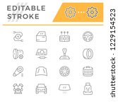 set of car related line icons   Shutterstock .eps vector #1229154523