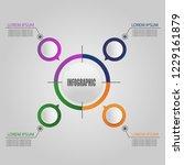 vector  abstract infographics... | Shutterstock .eps vector #1229161879