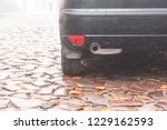the car is on the cobbled... | Shutterstock . vector #1229162593