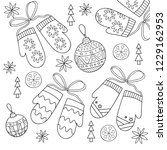 christmas coloring page with... | Shutterstock .eps vector #1229162953