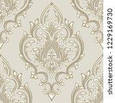 vector damask seamless pattern... | Shutterstock .eps vector #1229169730