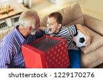 handsome senior grandfather... | Shutterstock . vector #1229170276