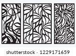 decorative laser cut panel | Shutterstock .eps vector #1229171659