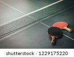 table tennis  ping pong and two ... | Shutterstock . vector #1229175220
