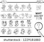 black and white cartoon... | Shutterstock .eps vector #1229181883