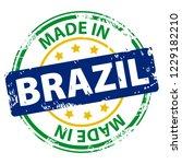 made in the brazil rubber stamp ...   Shutterstock .eps vector #1229182210