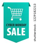cyber monday text with shopping ... | Shutterstock .eps vector #1229182213