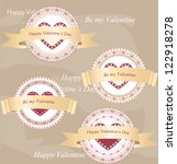 valentine's day labels | Shutterstock .eps vector #122918278