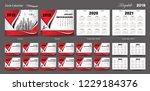 set desk calendar 2020 template ... | Shutterstock .eps vector #1229184376