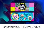 sale banner  poster or shopping ... | Shutterstock .eps vector #1229187376
