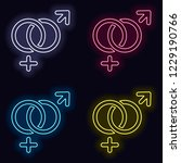 gender symbol. linear symbol.... | Shutterstock .eps vector #1229190766