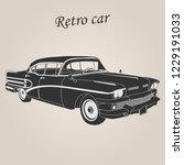 vintage car. retro car. classic ... | Shutterstock .eps vector #1229191033