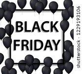illustration of black frame for ... | Shutterstock . vector #1229193106