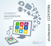 tablet pc copy file computer  ... | Shutterstock .eps vector #122919586