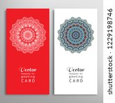 cards or invitations set with...   Shutterstock .eps vector #1229198746