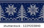 blue and white christmas...   Shutterstock .eps vector #1229203840
