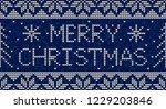 blue and white christmas...   Shutterstock .eps vector #1229203846