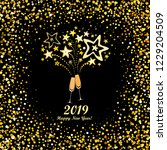 happy new year 2019  vintage... | Shutterstock .eps vector #1229204509