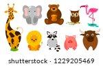 set of cute cute animals....   Shutterstock .eps vector #1229205469